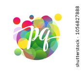 letter pq logo with colorful... | Shutterstock .eps vector #1056827888