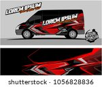 modern vehicle graphic kit.... | Shutterstock .eps vector #1056828836