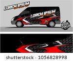 modern vehicle graphic kit....   Shutterstock .eps vector #1056828998