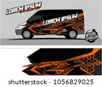 modern vehicle graphic kit....   Shutterstock .eps vector #1056829025