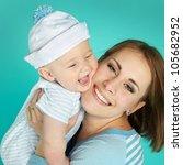portrait of sweet little boy... | Shutterstock . vector #105682952