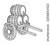 dotted shape handcart... | Shutterstock .eps vector #1056831422