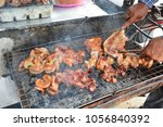 chef is barbecued on the grid | Shutterstock . vector #1056840392