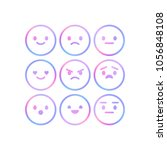 vector smiley faces for rating... | Shutterstock .eps vector #1056848108