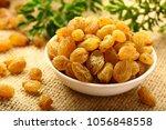 organic raisins   dried sweet... | Shutterstock . vector #1056848558