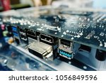 computer motherboard and... | Shutterstock . vector #1056849596