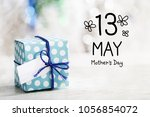 13 may mothers day message with ... | Shutterstock . vector #1056854072