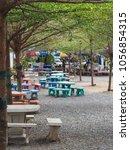outdoor cafeteria terrace... | Shutterstock . vector #1056854315