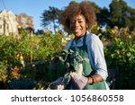 proud diverse millenial posing... | Shutterstock . vector #1056860558