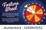 motion fortune wheel poster.... | Shutterstock .eps vector #1056865052