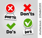 do and dont icons. doing... | Shutterstock .eps vector #1056865205
