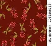 seamless floral pattern with... | Shutterstock .eps vector #1056868388