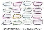 set of modern abstract doodle... | Shutterstock .eps vector #1056872972