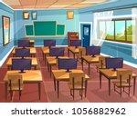 vector cartoon empty high... | Shutterstock .eps vector #1056882962