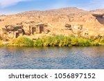 river nile in egypt. life on... | Shutterstock . vector #1056897152
