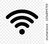 wi fi signal icon. vector wi fi ... | Shutterstock .eps vector #1056899705