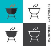 charcoal grill icons 2018 | Shutterstock .eps vector #1056906848