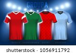 mockup of group a football...   Shutterstock .eps vector #1056911792