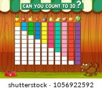 counting to ten with different... | Shutterstock .eps vector #1056922592