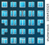 colorful window icons set  ... | Shutterstock .eps vector #1056925325