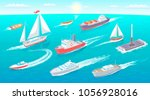water transport collection ... | Shutterstock .eps vector #1056928016