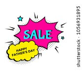 happy father's day sale. vector ... | Shutterstock .eps vector #1056931895