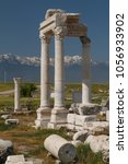 Small photo of Ruins of the ancient town Laodicea on the Lycus, Turkey