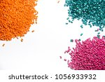 plastic granules close up for... | Shutterstock . vector #1056933932