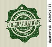 green congratulations distress... | Shutterstock .eps vector #1056936455