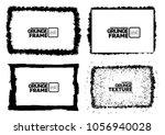 grunge frame texture set  ... | Shutterstock .eps vector #1056940028