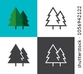 forest icons 2018 | Shutterstock .eps vector #1056942122