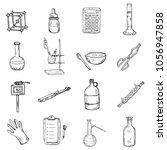 set of cute hand drawn... | Shutterstock .eps vector #1056947858