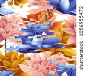 geometrical seamless pattern... | Shutterstock . vector #1056955472