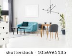 angle view of white living room ... | Shutterstock . vector #1056965135