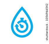 limit water use icon. blue... | Shutterstock .eps vector #1056966542