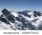 view of the alpine skiing... | Shutterstock . vector #1056971912