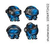 vr logo design illustration.... | Shutterstock . vector #1056972422
