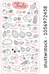 set drawings of fruits for... | Shutterstock .eps vector #1056972458