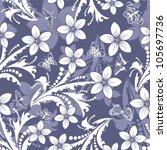 seamless vector floral pattern. ... | Shutterstock .eps vector #105697736