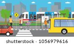 city street and road public... | Shutterstock .eps vector #1056979616