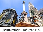 famous munich city hall at the...   Shutterstock . vector #1056984116