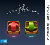 download and upload buttons 3d...