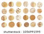 big set of vector golden ... | Shutterstock .eps vector #1056991595