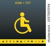 wheelchair handicap icon | Shutterstock .eps vector #1057005596
