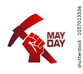 may day icon for poster or... | Shutterstock .eps vector #1057013336