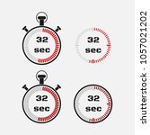 timer 32 seconds on gray... | Shutterstock .eps vector #1057021202