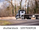 big rig american fleet black... | Shutterstock . vector #1057030928