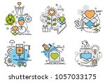 set of outline icons of...   Shutterstock .eps vector #1057033175