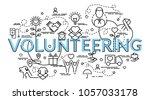 flat colorful design concept... | Shutterstock .eps vector #1057033178