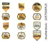 luxury premium golden labels...   Shutterstock .eps vector #1057034915